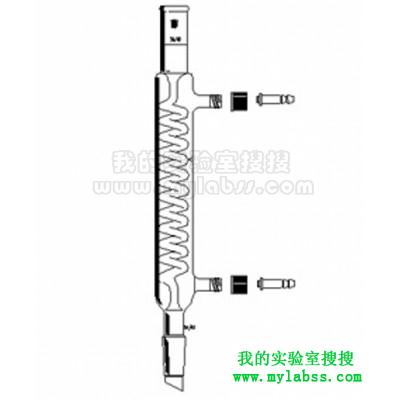 格氏蛇型冷凝器,24/40,有效长:500mm,φ10mm可拆式小咀
